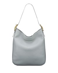 Anne Klein Jackie Leather Hobo Gray Gold