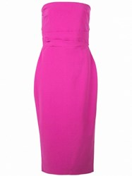 Alex Perry Fitted Dylan Midi Dress Pink