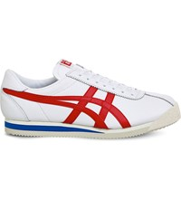 Onitsuka Tiger By Asics Corsair Leather Trainers White True Red