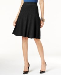 Alfani Fit And Flare Sweater Skirt Only At Macy's Deep Black