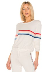 Spiritual Gangster X Madeleine Thompson Stripe Sweater White