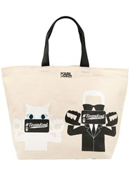 Karl Lagerfeld Team Canvas Cotton Tote Bag