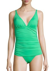 Tommy Bahama Pearl Ruched One Piece Swimsuit Clearwater