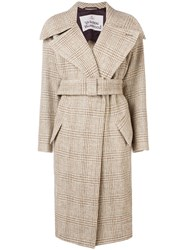Vivienne Westwood Checkered Trench Coat Pink And Purple