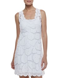 Letarte Kissing Fish Sleeveless Coverup Dress White