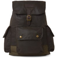 Barbour Large Wax Backpack Green