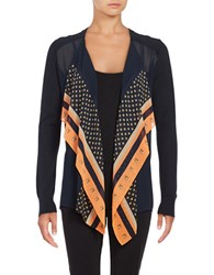 Michael Michael Kors Plus Printed Flyaway Cardigan Orange