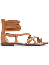 Sam Edelman Sesgabe Sandals Women Leather Rubber Polyester 39 Brown