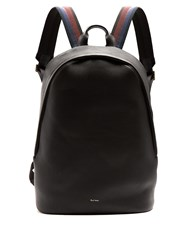 Paul Smith City Webbing Leather Backpack Black Multi