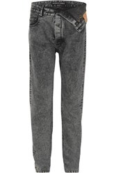 Y Project Asymmetric Straight Leg Jeans Charcoal