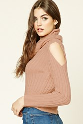 Forever 21 Open Shoulder Cowl Neck Sweater