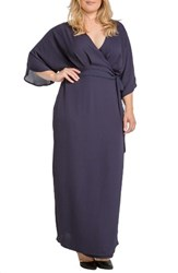 Standards And Practices Plus Size Women's Olivia Wrap Kimono Maxi Dress