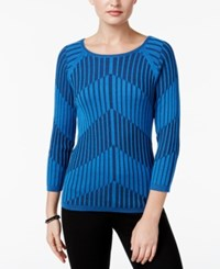 Joseph A Ribbed Knit Sweater French Blue