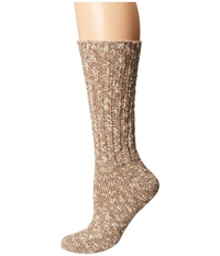 Lauren Ralph Lauren Rag Cotton Crew Brown Women's Crew Cut Socks Shoes