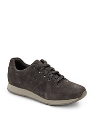Vince Percy Lace Up Leather Sneakers Graphite