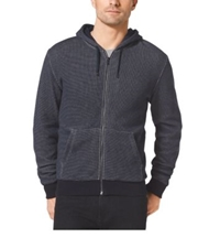 Michael Kors Lined Zip Up Cotton Hoodie Midnight