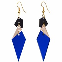Toolally Abstract Diamonds Sapphire Black Blue Neutrals