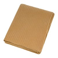 Amara Knitted Rib Throw Camel