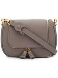 Anya Hindmarch 113946 Porcini Leather Fur Exotic Grey