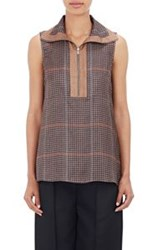 Acne Studios Chanay Sleeveless Blouse Brown