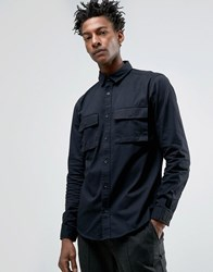 Only And Sons Shirt With Military Pockets In Regular Fit Black
