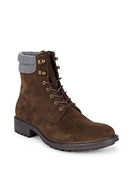 Saks Fifth Avenue Campilio Lace Up Boots Brown