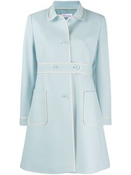 Red Valentino Contrasting Trim Buttoned Coat 60