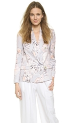 Finders Keepers Song Of Freedom Blazer Digital Floral Grey