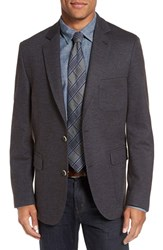 Flynt Men's Big And Tall Regular Fit Stripe Wool Blend Sport Coat Brown