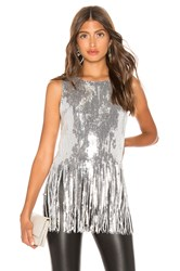 Endless Rose Sequin Top Metallic Silver