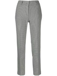 Piazza Sempione Houndstooth Tailored Trousers Black