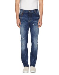 Yes London Denim Denim Trousers Men Blue