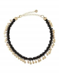 Lydell Nyc Fabric Choker W Golden Disc Drops