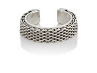 Title Of Work Men's Sterling Silver Cuff Ring