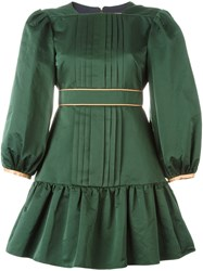 Roksanda Ilincic Pleated Front Dress Green