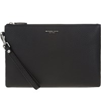 Michael Kors Bryant Leather Travel Pouch Black