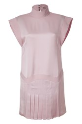Hakaan Pale Pink Pleated Tulip Dress