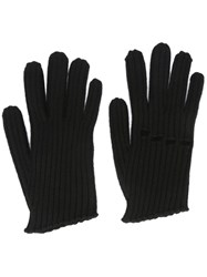 Maison Martin Margiela Mm6 Knuckle Gloves Black