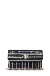 Elie Saab Sequin Clutch Black