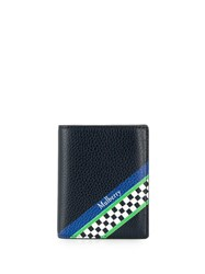 Mulberry Racing Stripes Trifold Wallet Blue