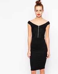 New Look Bodycon Off The Shoulder Sexy Dress Black
