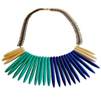 Metrix Jewelry Underground Cave Blue Ombre Necklace