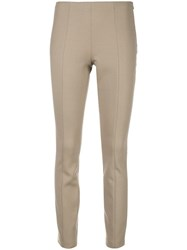 The Row Skinny Trousers Neutrals