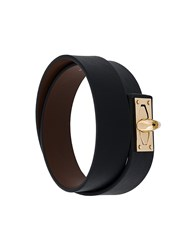 Givenchy Classic Buckled Bracelet Calf Leather Black