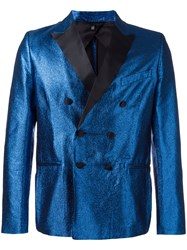 Christian Pellizzari Double Breasted Blazer Blue