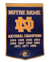 Winning Streak Notre Dame Fighting Irish Dynasty Banner Team Color