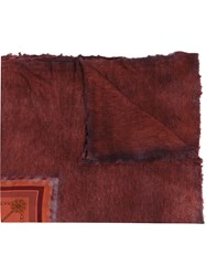 Avant Toi Contrast Panel Shawl Red