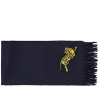 Kenzo Jumping Tiger Scarf Blue