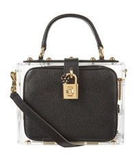 Dolce And Gabbana Plexiglass Padlock Top Handle Bag Female Black
