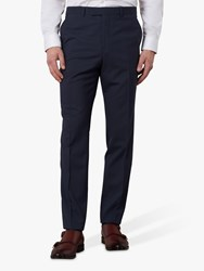Jaeger Gingham Slim Fit Suit Trousers Navy